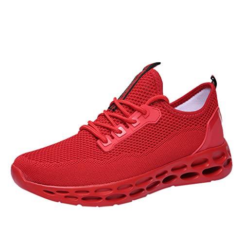 LMMET Scarpa da Ginnastica Uomo Sneakers Uomo Classiche Sneakers Primavera-Estive Scarpe da Pallamano Scarpe da Corsa Nero Rosso Bianco Blu 38/39/40/41/42/43/44/45/46