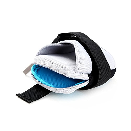 Sport Sportarmband Tasche Doppel Taschen für Handy Halter Tasche Gürtel Gym Arm Tasche Schwarz