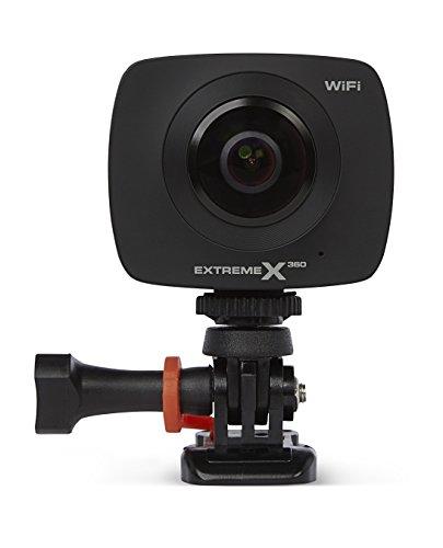Nikkei 360 Grad Kamera Dashcam VR-/Panorama Vollsphärenkamera | Kompaktkamera | 2 Linsen Full HD WiFi Aktionskamera