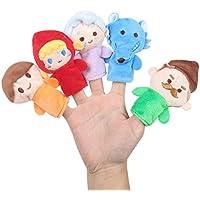 Animal del Dedo de Juguete Infantil Animal Marioneta de mano Muñeca de juguete de peluche Bebé Dedo Muñeca Cuentacuentos Props 5 unids - Peluches y Puzzles precios baratos