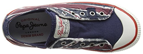 Pepe Jeans Industry Jack Low, Baskets Basses garçon Bleu - Blau (575NAVAL BLUE)
