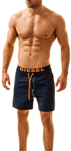 DIESEL Herren Badeshorts DOLPHIN (Large, Navy) (Herren-bademode Diesel)