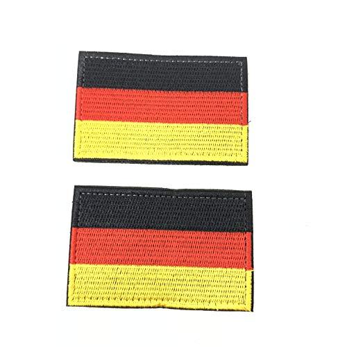 2 Parches Velcro x Bandera Alemania Alemán Emblema
