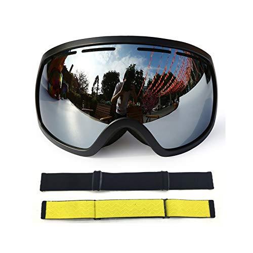 Aienid Radbrille Frauen Schwarz Silber Skibrille Winddichter Augenschutz Size:18X9.5CM