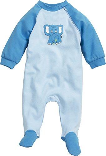Playshoes Unisex Baby Schlafstrampler Schlafanzug Schlafoverall Elefant, Gr. 86, Blau (original 900)