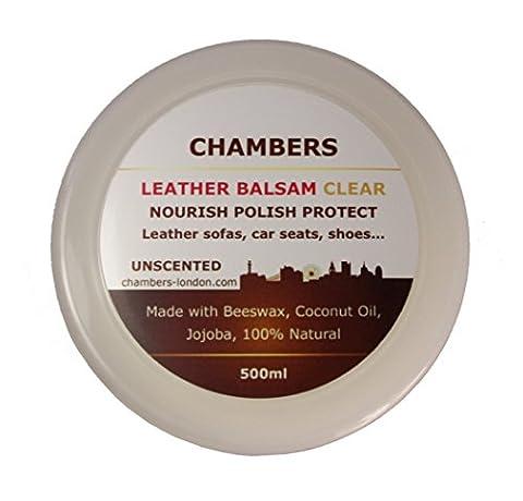 Cuir Naturel Élaborée Balsam Après-shampooing et restaurateur 500ml Convient pour tous les Cuir Lisse Cuir aniline, parfait pour les canapés.