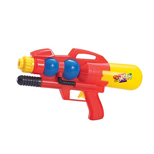 kidoloop-super-soaker-sharp-shooter-water-drencher-pressurised-pistol-gun-outdoor-toys-red-yellow