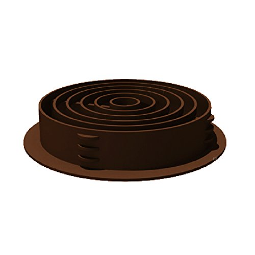 25 x 70mm Brown Plastic Round Soffit Air Vents / Upvc Push in Roof Disc / Fascia by SmartHome