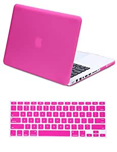 Macbook Case, Coolden™ Macbook Air 13 Case Protective Skin Cover MacBook Air Coating Matte Hard Shell High Quality Laptop PC Case + Silicone Keyboard Cover for Apple Macbook Air 13.3'' (Rose)