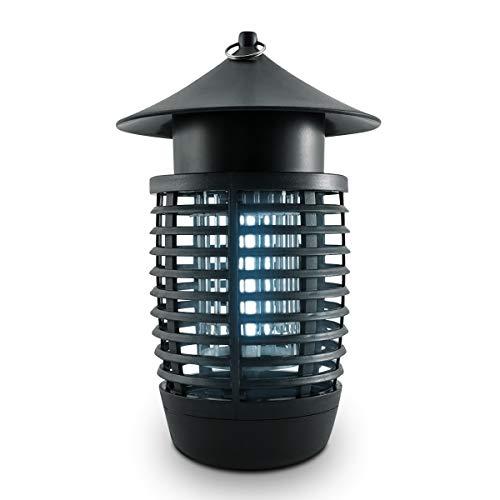 kwmobile UV Insektenvernichter 7 Watt - Insektenlampe für Mücken Fliegen Wespen und andere Insekten - Elektrische Fliegenfalle mit Stromkabel