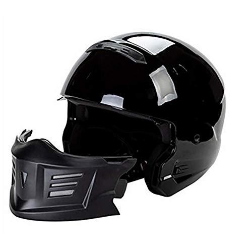 LALEO Personalidad Motocross Cascos Moto Half-Helmet