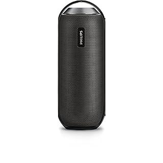 Philips BT6000B tragbarer, kabelloser Lautsprecher (Bluetooth, Spritzwassergeschützt, 12 Watt) schwarz