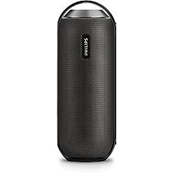 Philips BT6000B Enceinte Bluetooth Portable Sans Fil avec Micro Intégré, NFC, Jack, 12W, Noir
