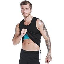 Faja Reductora Adelgazante Hombre Camiseta Sauna Neopreno Compresion para Running Deporte Gimnasio