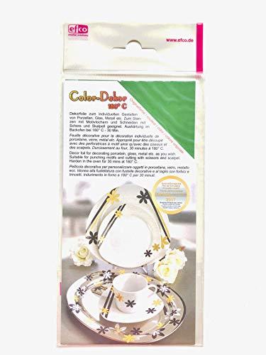 Dekorfolie - Color Dekor - Klebefolie - hitzebeständig - zum gestalten von Porzellan -Glas - Metall (grün) Dekor Porzellan