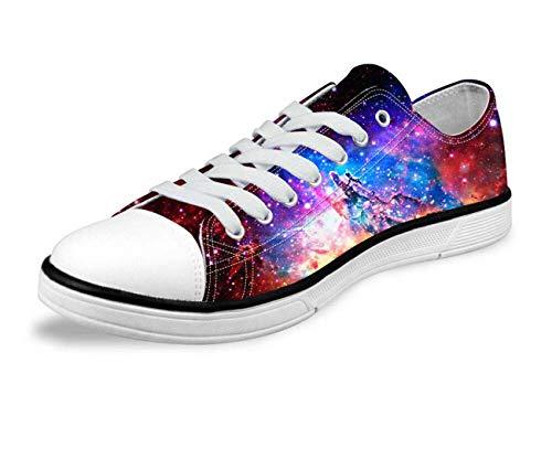 Galaxy Space Men Women Canvas Shoes Outdoor Casual Sneakers Training Shoes Flats Retro Galaxy-C0161AP Men's US 9