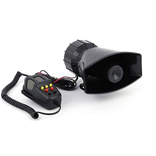 7 Ton Sound Hupen Signalhörner 125db Auto Sirene Fahrzeug Alarm Horn Mit Mikrofon PA 12V 100W Notfall Warntöne für Auto Motorrad Feuer-alarm-verkabelung