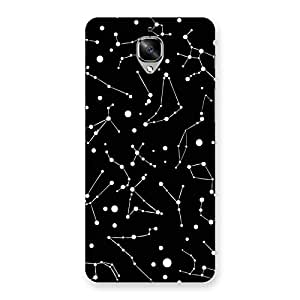 NEO WORLD Premium Constellation Black Back Case Cover for OnePlus 3