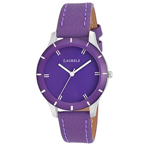 Laurels Colors Analog Purple Dial Women\'s Watch - Lo-Colors-1004
