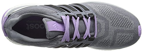 adidas Energy Boost 3, Chaussures de Running Compétition Femme Gris - Grey (Clear Onix/Core Black/Purple Glow S16)