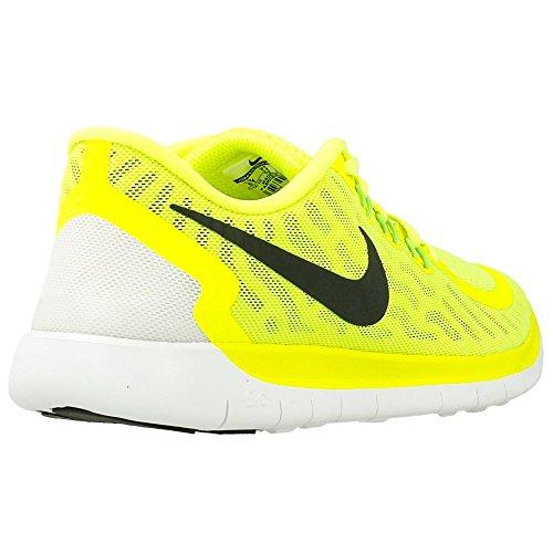 Nike Free 5.0 (Gs) Scarpe da corsa, Bambine e ragazze, Multicolore (Hypr Grape/Ghst Grn-Mtllc Slvr), 37 1/2 Gelb