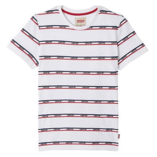 Levi's Kids Jungen Nn10077 11 Short Sleeve Tee T-Shirt, Elfenbein (Écru, 8 Jahre (Herstellergröße: 8Y) - Jungen Red Tab