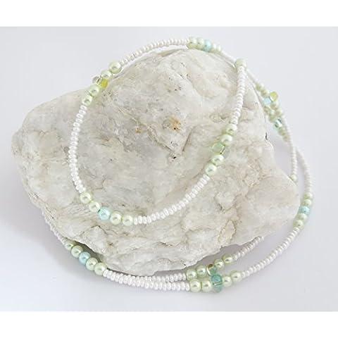 Goggle cinghia / occhiali catena di perle di vetro BR-4485