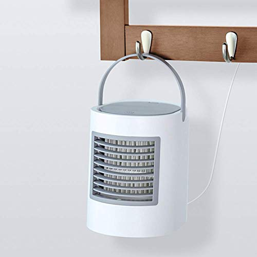 Wild Aircooler Elliptical Water Cooling Fan Mini-Home-USB-Luftkühler Kleiner Lüfter New Desktop Air Conditioning Fan White