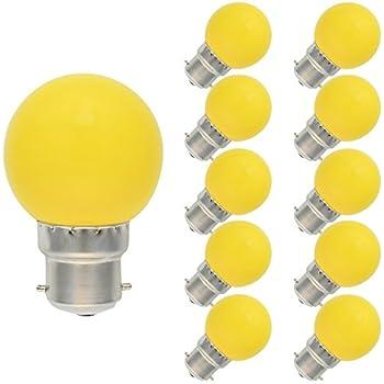 D'énergie 70 220v 10 Lampe Ampoule Led Couleur Ac De Économie B22 Pack 100lm Jaune 1w 240v nk8Ow0PX