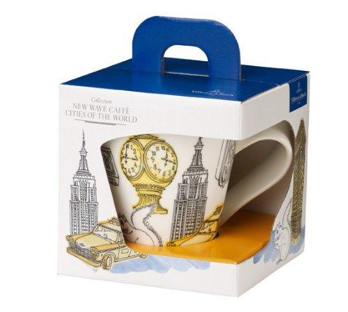 Villeroy & Boch Cities of the World Tasse à café New York, 300 ml, Hauteur: 11 cm, Porcelaine Premium, Blanc/Multicolore