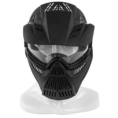 15000P Taktische Maske Vollgesichtsmaske Abdeckung mit Brille Schutzmaske für Nerf Rival, Nerf Infinus, Nerf Disruptor -