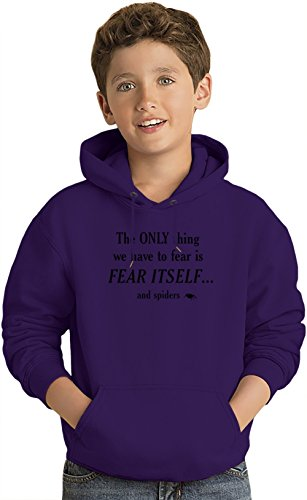 Fear Of Spiders Kinder Leicht Kapuzenpullover Lightweight Hoodie For Kids | 80% Cotton-20%Polyester| 7-8 yrs (Hoodie Spider Kids)