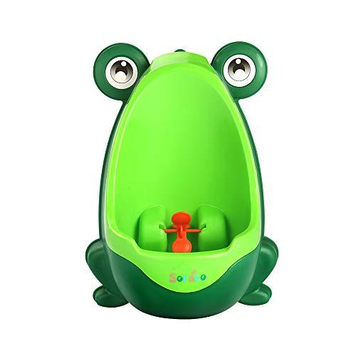 Carino Rana Ragazzi vasino WC per Allenamento per Ragazzi Pee Trainer Bagno Bambini Uninal con Whirling Target
