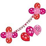 Riethmüller 450284 - Deko Set - Sweet Love, Girlande und 17 Luftballons