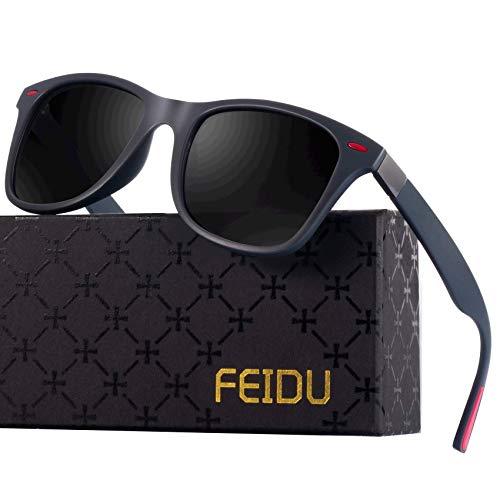 Polarized Sonnenbrillen Herren Vintage Style Sonnenbrillen Damen-Sport im Freien Golf Radfahren Angeln Wandern FD2150 (Grau, 60)