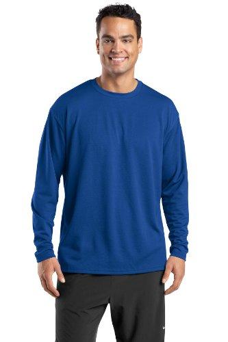 Sport-Tek -  Maglia a manica lunga  - Asimmetrico - Uomo Blu