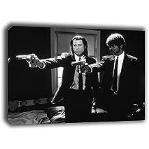 Cuadro lienzo fotograma de Pulp Fiction en bastidor de madera, listo para colgar (90x60)