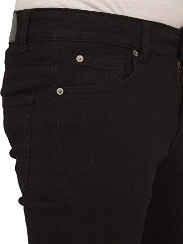 Enzo Jeans Herren superdünn enganliegend schlanke Passform Stretch Denim Retro Schwarz