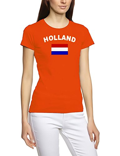 Holland T-Shirt girly orange, Gr.S