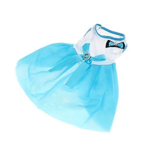 B Blesiya Ropa Primavera Verano Perro Capas Complimentos Mascota Color Brillante Ecológico Duradero - Azul S