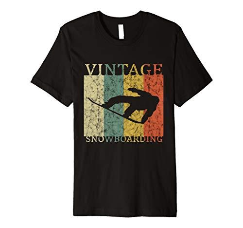 Snowboarding-T-Shirt Retro springender Snowboarder