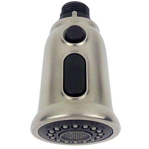 MINGOR Badezimmer Küche Wasserhahn Ausziehspray Duschkopf Multi Funktion Universal-Ersatzteil, gebürstetem Nickel