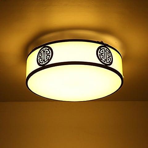 APSD-Iluminación cálida Redondo, estilo chino, lámparas de techo, antiguas, Hall llevó el ambiente, dormitorio, creatividad, sencillez, living comedor, den, (52 * 12,5 cm)