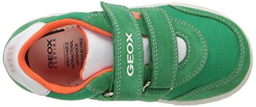 Geox B Flick Boy A, Baskets premiers pas bébé garçon Vert - Grün (GREEN/ORANGEC0587)