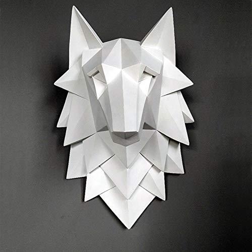Yamybox Cabeza lobo escultura decoración colgar pared