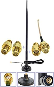 Universal Kit Dual Band Wi-Fi 9dbi Booster Long Range Omni Directional 2.4/5Ghz Antenna RP-SMA Male Connector