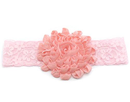 BONAMART ®Baby Kind Mädchen Haarband Stirnband Kopfband Lace Blumen 0.5-2 Jahre weiß (Großhandel Stirnbänder Und Accessoires)