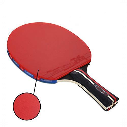 JKHOIUH 2-Sterne-Tischtennisschläger Anfänger Stift Halten Horizontale Single Shot Outdoor-Sportgeräte Sportartikel (Farbe : Short Handle)