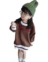Kleinkind Kinder Baby M/ädchen Outfit Kleidung Prinzessinenkleid Organza-Rundhalsausschnitt Gestrickte Pullover Mantel Tops Rock Set