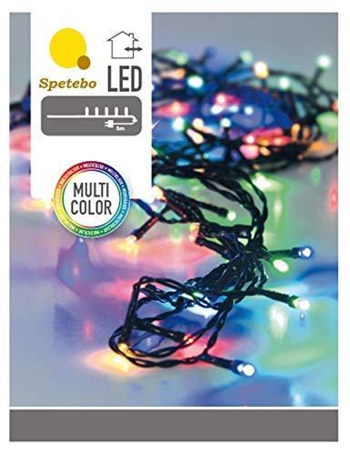 LED Lichterkette mit 80 LEDs bunt - Innen und Außen - Mit Controller (8 Funktionen) und Speicherchip!